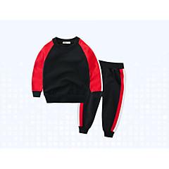 billige Tøjsæt til drenge-Børn Drenge Basale Ensfarvet / Farveblok / Dyr Langærmet Bomuld Tøjsæt