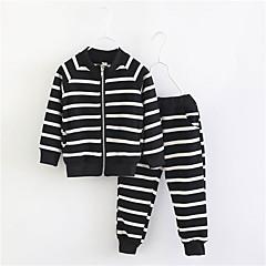 billige Tøjsæt til piger-Børn Pige Stribet Langærmet Tøjsæt