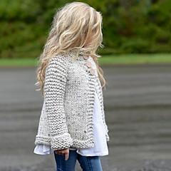 tanie Odzież dla dziewczynek-Dzieci Dla dziewczynek Jendolity kolor Długi rękaw Odzież puchowa / pikowana