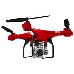 billige Fjernstyrte quadcoptere og multirotorer-RC Drone SH5HD 4 Kanaler 6 Akse 2.4G Med HD-kamera 0.3MP Fjernstyrt quadkopter FPV / En Tast For Retur / Auto-Takeoff Fjernstyrt Quadkopter / Fjernkontroll / Kamera / Flyvning Med 360 Graders Flipp