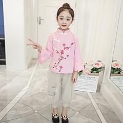 tanie Odzież dla dziewczynek-Dzieci Dla dziewczynek Nadruk Długi rękaw Komplet odzieży