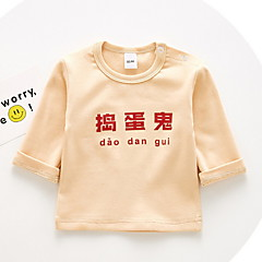 tanie Odzież dla dziewczynek-Dzieci Dla dziewczynek Nadruk Długi rękaw T-shirt