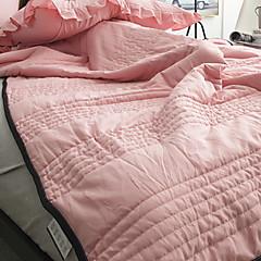 billiga Täcken och överkast-Bekväm - 1 st. Täcke Sommar Bomull Enfärgad