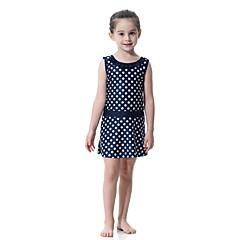 billige Badetøj til piger-Børn Pige Boheme Sport Prikker Uden ærmer Badetøj