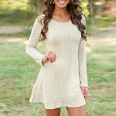 رخيصةأون وصلنا حديثاً-فستان نسائي سترة أساسي قصير جداً أبيض لون سادة