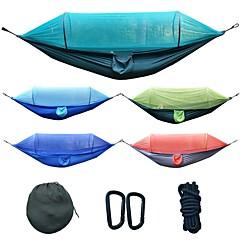 Χαμηλού Κόστους Έπιπλα Κατασκήνωσης-Κούνια κάμπινγκ με κουνουπιέρα Εξωτερική Ελαφρύ, Ικανότητα να αναπνέει Νάιλον για Ψάρεμα / Πεζοπορία / Παραλία - 2 άτομα Πορτοκαλί / Σκούρο μπλε / Σκούρο πράσινο