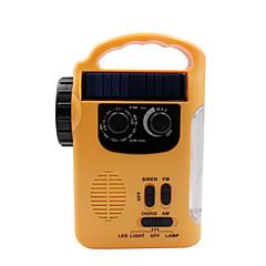 Χαμηλού Κόστους Ράδιο-RD339 Φορητό ραδιόφωνο MP3 player / Ηλιακή Ενέργεια / Φακός Παγκόσμιος δέκτης Κίτρινο