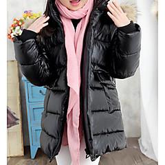 tanie Odzież dla dziewczynek-Dzieci Dla dziewczynek Solidne kolory Długi rękaw Odzież puchowa / pikowana