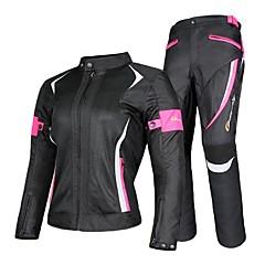 tanie Wyposażenie ochronne-kurtki motocyklowe damskie& spodnie kombinezon kurtka oddychająca siatka touring motocykl komplet odzieży ochronnej