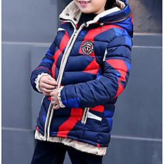 tanie Odzież dla chłopców-Dzieci Dla chłopców Kolorowy blok Długi rękaw Odzież puchowa / pikowana