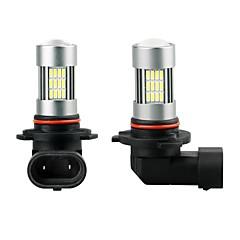 Χαμηλού Κόστους Φώτα Ομίχλης Αυτοκινήτων-2pcs H9 / H11 / 9005 Αυτοκίνητο Λάμπες 35 W SMD 3014 1800 lm 54 LED Φως Ομίχλης Για