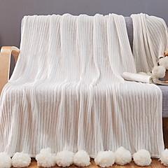 billiga Filtar och plädar-Flanell, Reaktiv Tryck Enfärgad Cotton filtar