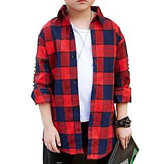 tanie Odzież dla chłopców-Dzieci Dla chłopców Kratka Długi rękaw Koszula