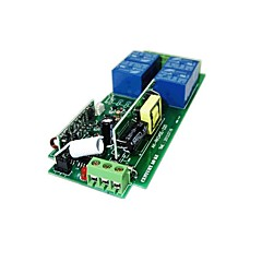 voordelige -220v 4-weg afstandsbediening mahonie 4-knops draadloze afstandsbediening
