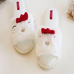 baratos Chinelos-Chinelos de Mulher Pantufas Casual Felpudo Estampado Animal Sapatos