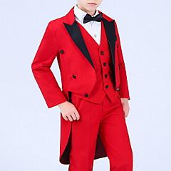 billige Tøjsæt til drenge-Børn Drenge Aktiv Ensfarvet Langærmet Tøjsæt
