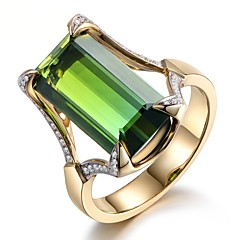 billige Motering-Dame Smaragd Vintage Stil Ring - Harpiks Stilfull, Luksus, Elegant 6 / 7 / 8 / 9 / 10 Grønn Til Gave