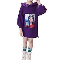 billige Hættetrøjer og sweatshirts til drenge-Børn / Baby Pige Aktiv Daglig Trykt mønster Trykt mønster Langærmet Normal Bomuld Hættetrøje og sweatshirt Lyserød