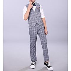billige Tøjsæt til drenge-Børn Drenge Basale Ternet Uden ærmer Bomuld Tøjsæt