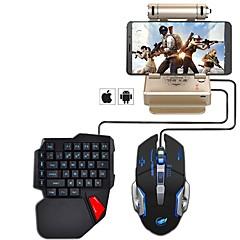billiga mus tangentbord combo-Kabel Mus tangentbord combo Häftig USB Powered gaming tangentbord Spelmus 1000 dpi 5 pcs