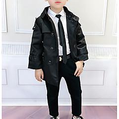 tanie Odzież dla chłopców-Dzieci Dla chłopców Solidne kolory Długi rękaw Trenczy