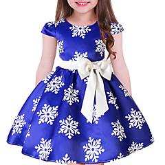 billige Pigekjoler-Børn Pige Blomstret Kortærmet Kjole