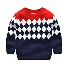 billige Sweaters og cardigans til drenge-Børn / Baby Drenge Aktiv / Basale Daglig / Skole Farveblok Langærmet Normal Modal / Polyester Trøje og cardigan Navyblå 100
