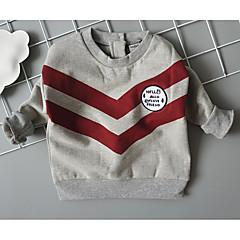 billige Hættetrøjer og sweatshirts til drenge-Baby Drenge Aktiv Daglig Stribet / Farveblok Langærmet Normal Polyester Hættetrøje og sweatshirt Grå