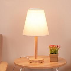 billiga Dekorativ belysning-Nutida Dekorativ Bordslampa Till Sovrum Trä / Bambu 220V Vit