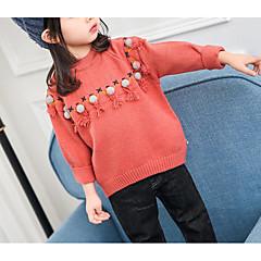 billige Sweaters og cardigans til babyer-Baby Pige Basale Geometrisk Langærmet Normal Polyester Trøje og cardigan Blå 100