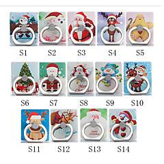 billige Telefoner og nettbrett-Skrivebord Monter stativholder Christmas Santa Claus Phone Holder Justerbar / 360 ° rotasjon ABS Holder