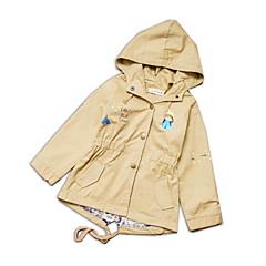 billige Jakker og frakker til piger-Børn / Baby Pige Ensfarvet Langærmet Trenchcoat