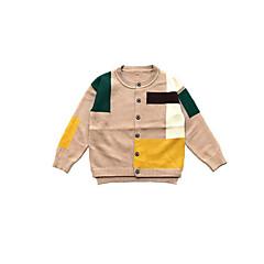 billige Sweaters og cardigans til drenge-Børn / Baby Drenge Basale Daglig Ensfarvet Langærmet Bomuld Trøje og cardigan Sort 100