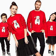 billige Sett med familieklær-Familie Look Dyr Langermet Hettegenser og sweatshirt