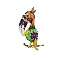 billige Motebrosjer-Dame Klassisk Nåler - Fugl damer, Unikt design Brosje Smykker Grønn / Blå Til Aftenselskap