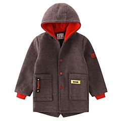 tanie Odzież dla chłopców-Dzieci Dla chłopców Kolorowy blok Długi rękaw Kurtka / płaszcz