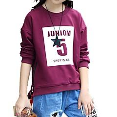 billige Hættetrøjer og sweatshirts til piger-Børn / Baby Pige Trykt mønster / Patchwork Langærmet Hættetrøje og sweatshirt
