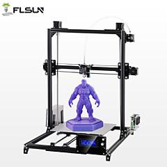 baratos Impressoras 3D-flsun® c2 desktop diy 3d impressora com auto nivelamento duplo z-motores de apoio filamento flexível 300 * 300 * 420mm tamanho da impressão 1.75mm 0.4mm bico