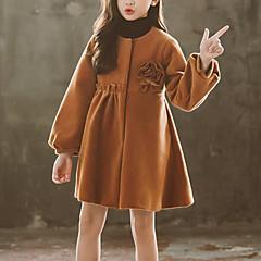 tanie Odzież dla dziewczynek-Dzieci Dla dziewczynek Solidne kolory / Kwiaty Długi rękaw Garnitur / marynarka