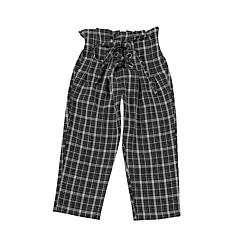 billige Babyunderdele-Baby Pige Basale Ensfarvet Akryl / Polyester Bukser Sort