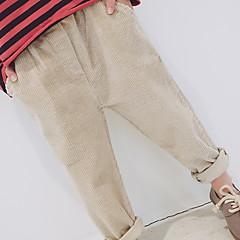 billige Bukser og leggings til piger-Børn Pige Basale Ensfarvet Bomuld Bukser Lyserød 140