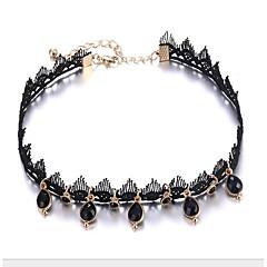 Χαμηλού Κόστους Τσόκερ-Γυναικεία Κολιέ Τσόκερ - Δαντέλα Αχλάδι Στυλάτο, Κλασσικό Μαύρο 40.7+8.2 cm Κολιέ Κοσμήματα 1pc Για Καθημερινά