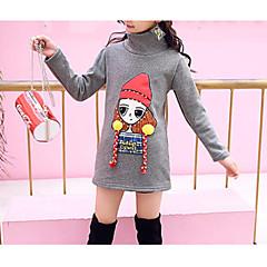 billige Hættetrøjer og sweatshirts til piger-Børn Pige Basale Ensfarvet Langærmet Bomuld Hættetrøje og sweatshirt Sort