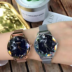 billiga Klockor-Dam Frackur Armbandsur Quartz Ny Design Diamant Imitation Legering Band Ramtyp Ledigt Elegant Svart / Silver / Brun - Purpur Kaffe Blå