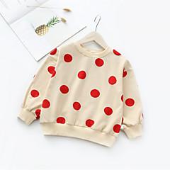 billige Hættetrøjer og sweatshirts til piger-Børn / Baby Pige Basale Daglig Ensfarvet Langærmet Bomuld Hættetrøje og sweatshirt Hvid