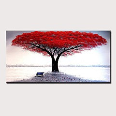 cheap -Mintura® Large Size Hand Painted Abstract Tree Oil Painting On Canvas Modern Wall Art Picture For Home Decoration No Framed