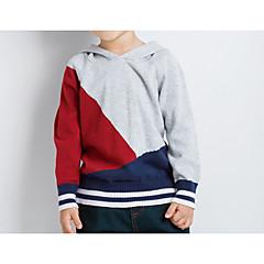 billige Hættetrøjer og sweatshirts til drenge-Baby Drenge Aktiv Daglig Geometrisk / Farveblok Langærmet Normal Polyester Hættetrøje og sweatshirt Grå