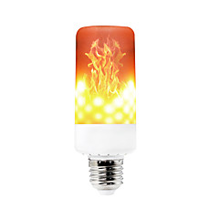 abordables Éclairage Décoratif-YWXLIGHT® 1pc 6 W 550-600 lm E14 / B22 / E12 Ampoules Maïs LED T 99 Perles LED SMD 3528 Intensité Réglable / Décorative / Flamme vacillante Blanc Chaud 85-265 V