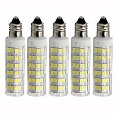 baratos Iluminação Decorativa-5pçs 4.5 W 450 lm E11 Lâmpadas Espiga T 76 Contas LED SMD 2835 Regulável Branco Quente / Branco Frio 110 V
