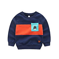 voordelige Jongenskleding-Peuter Jongens Standaard Print Lange mouw Katoen / Spandex Hoodie & Sweatshirt Marineblauw
